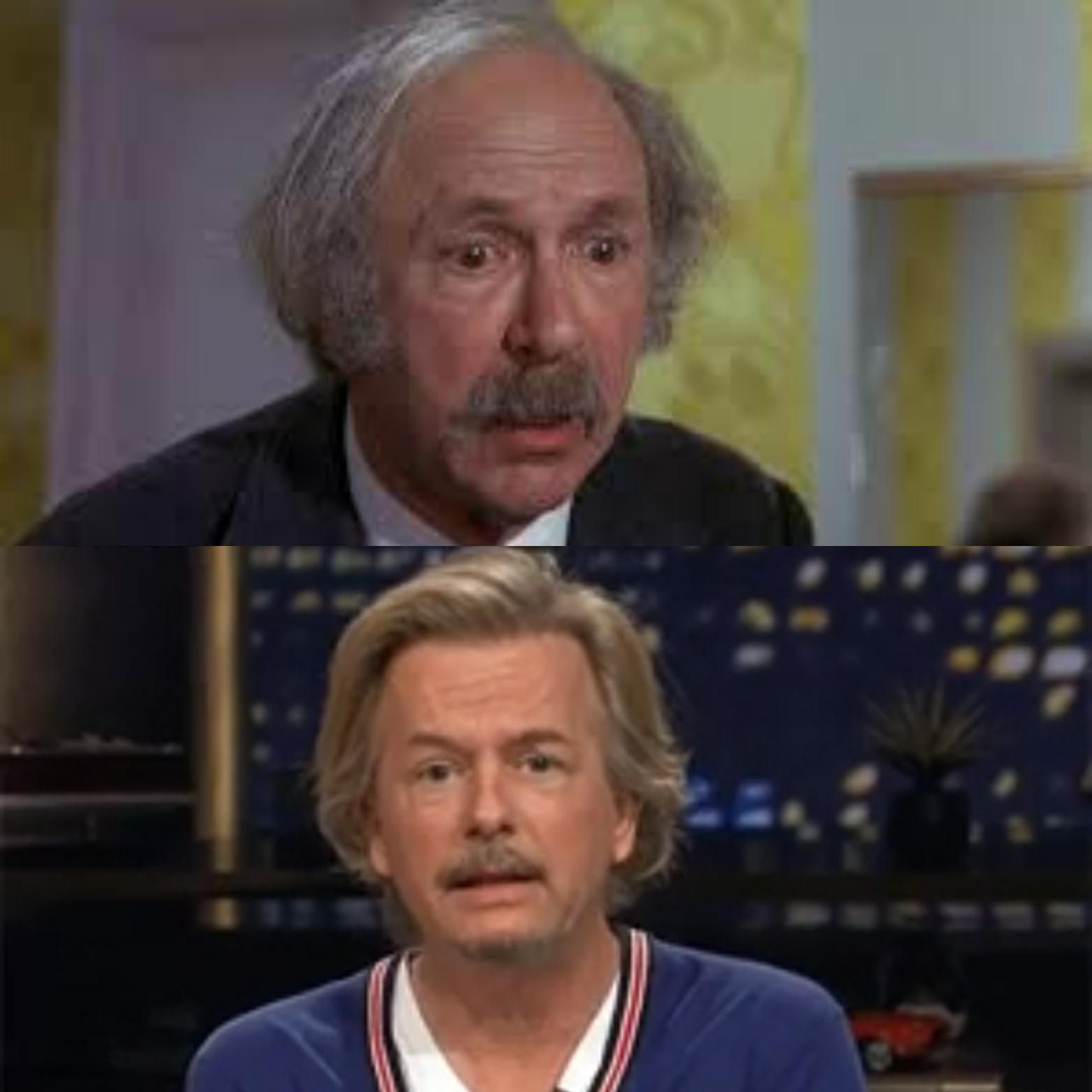 David Spade is starting to look a lot like the shitty grandpa from Willy Wonka.
