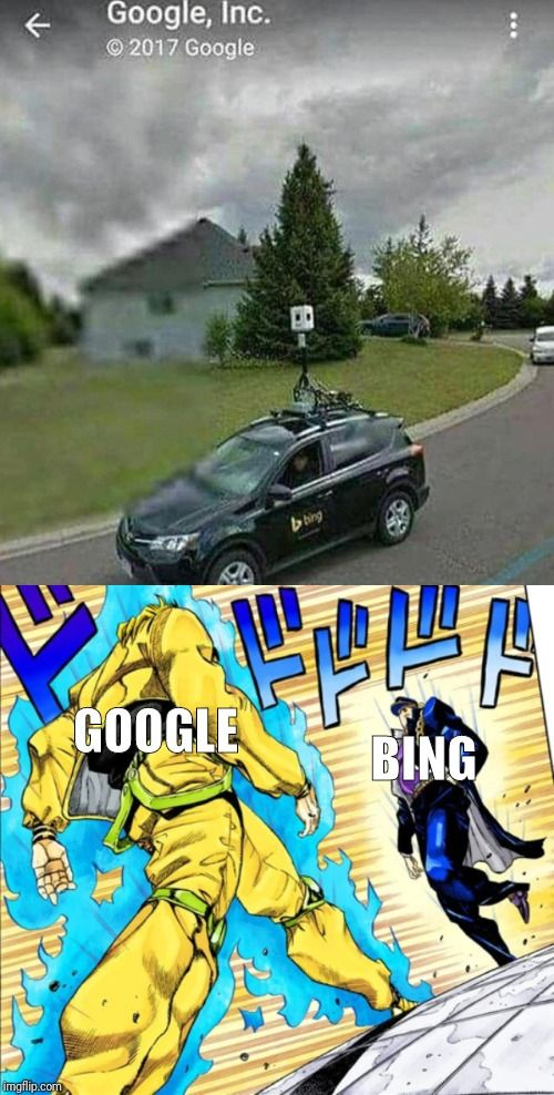 They made Google vs. Bing in real life