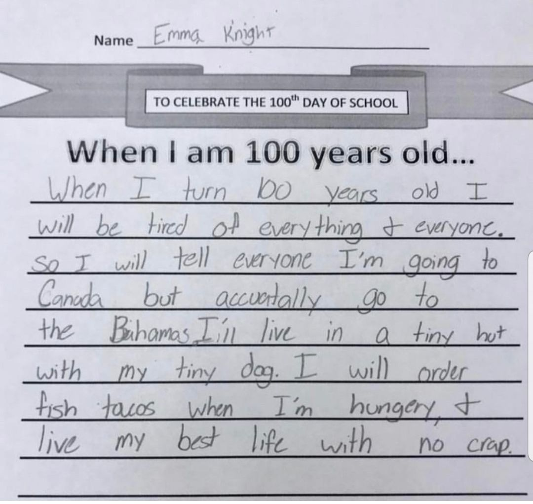 This kid has goals!!!