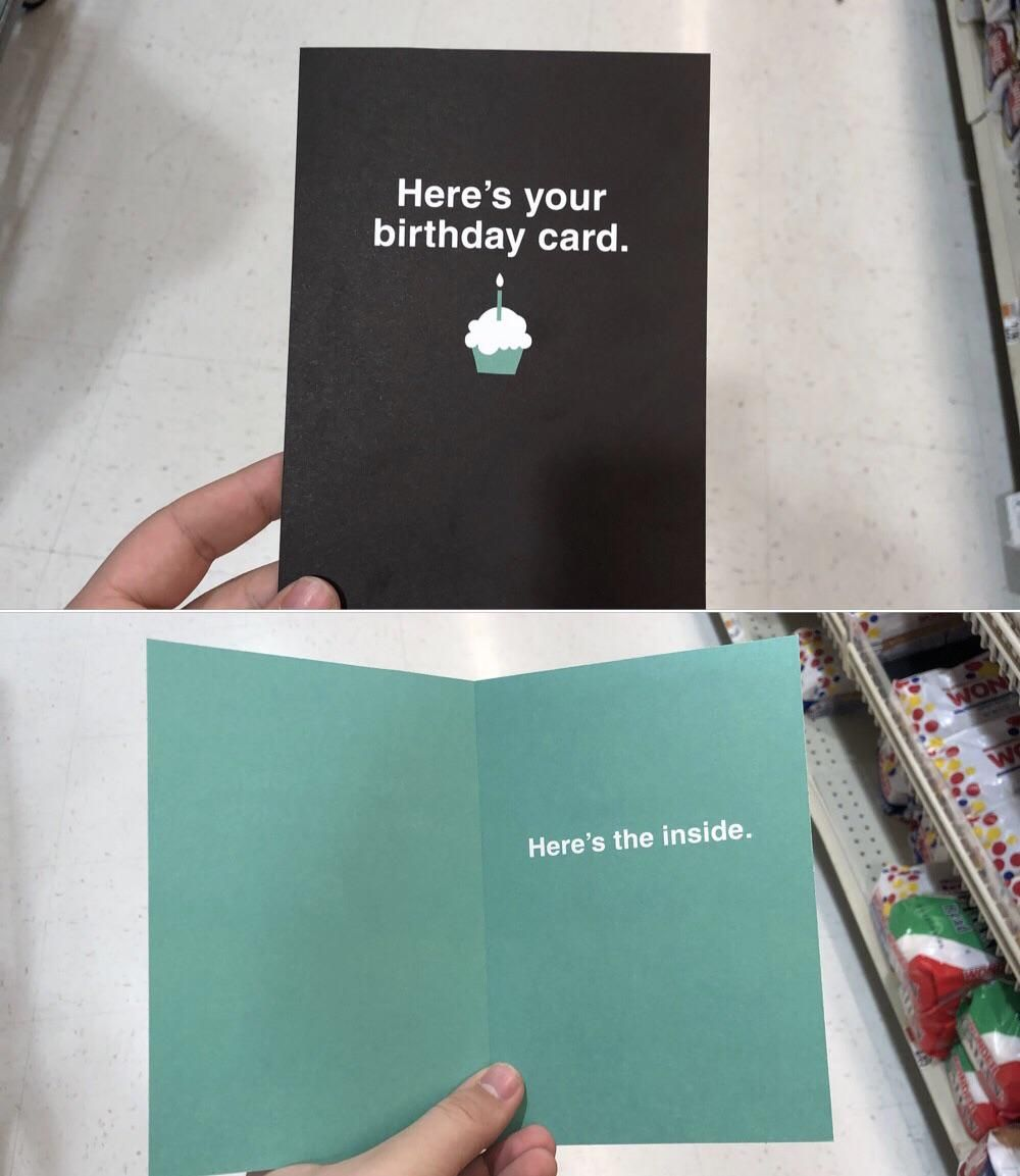 Dad said to get a card for my cousin. Needless to say, it's a love hate relationship.