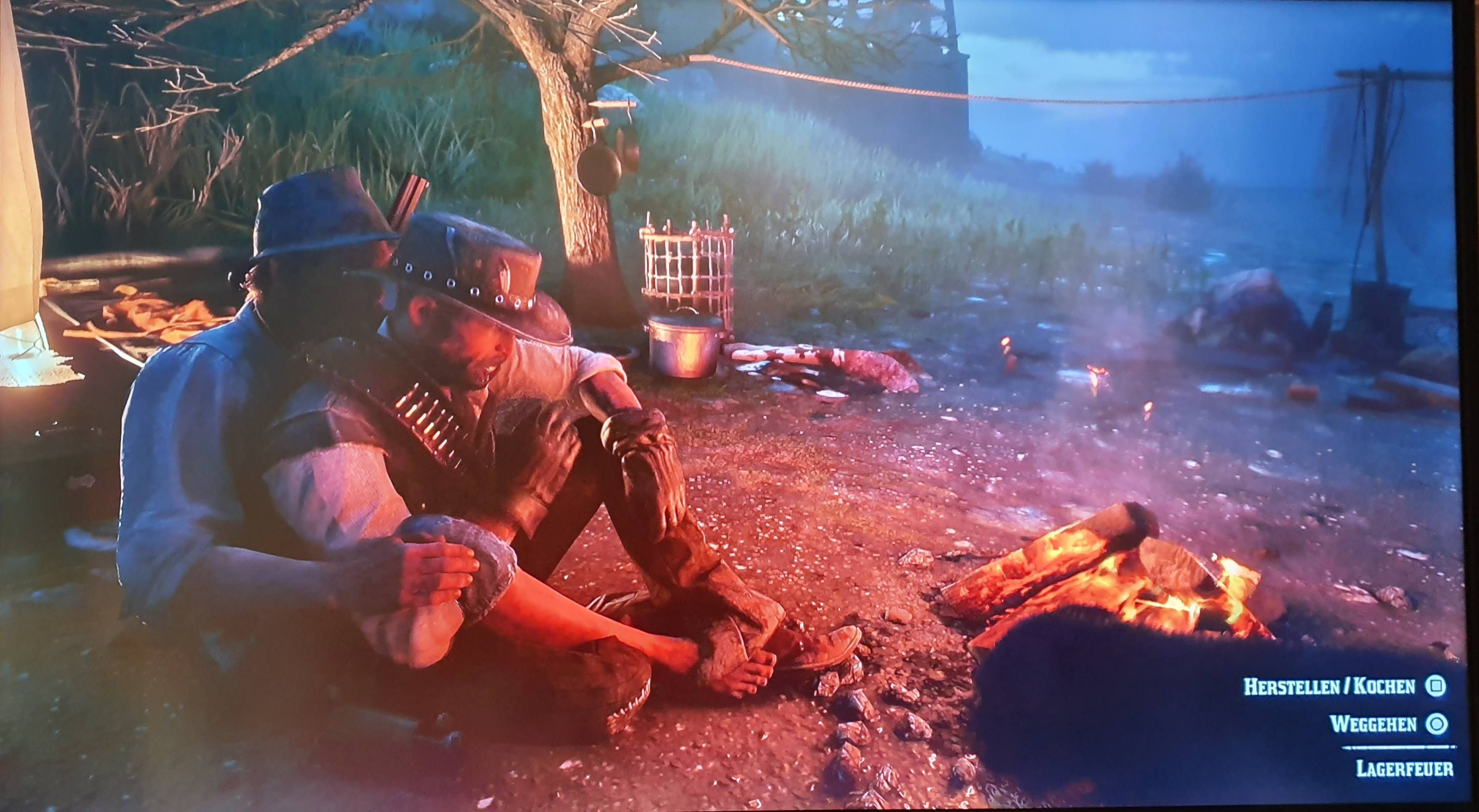 Due to a little bug in Red Dead Redemption 2, I sat on this strangers lap and received a lovely hug. Accidental *Brokeback Mountain* confirmed