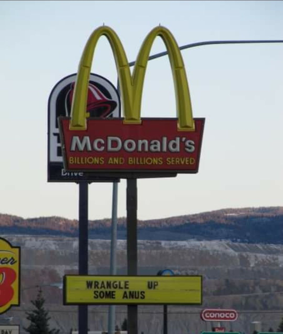 McDonalds sign from Butte, MT, circa 2009