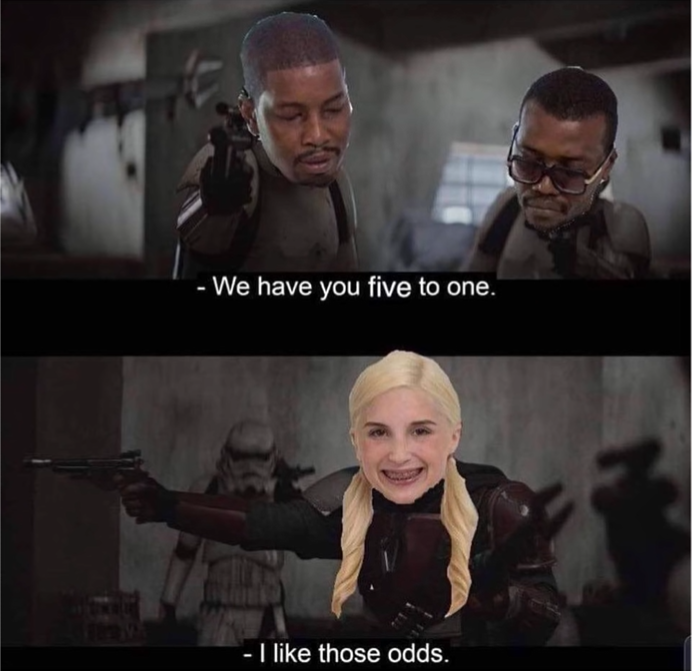 You best believe she loves them odds