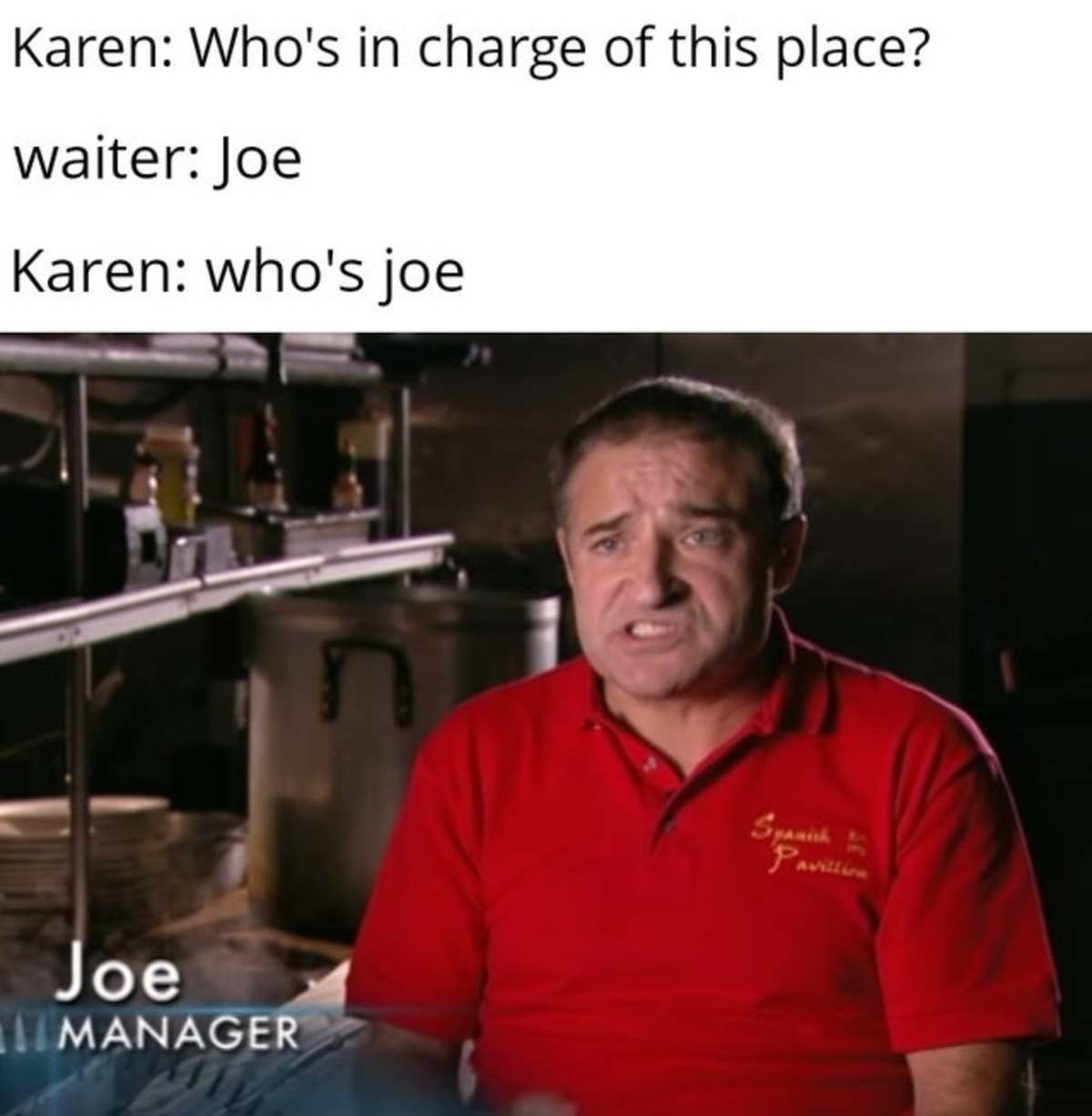 The only man powerful enough to defeat the Karens