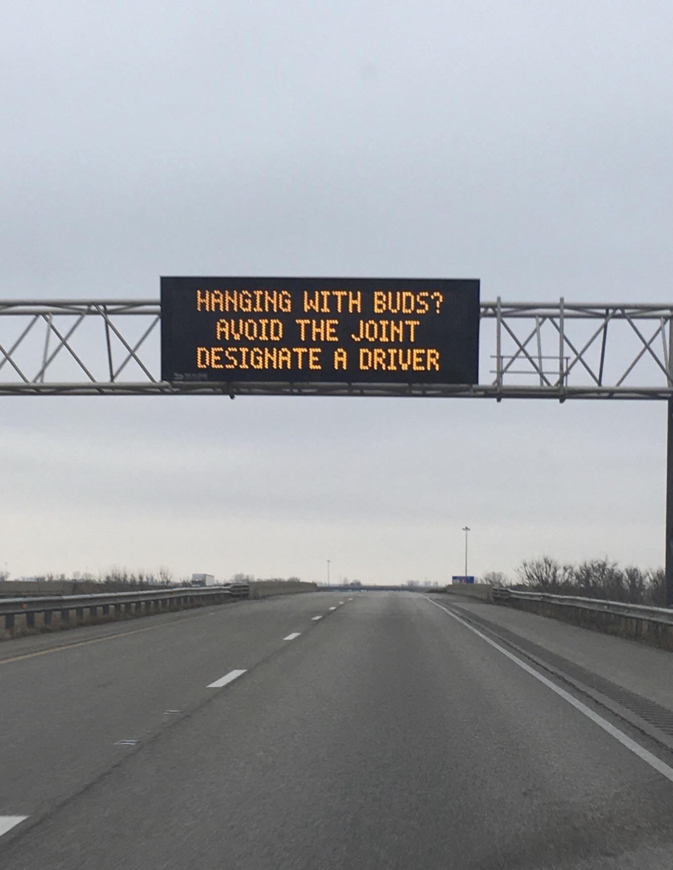 Legal marijuana puns, courtesy of the Illinois Dept of Transportation