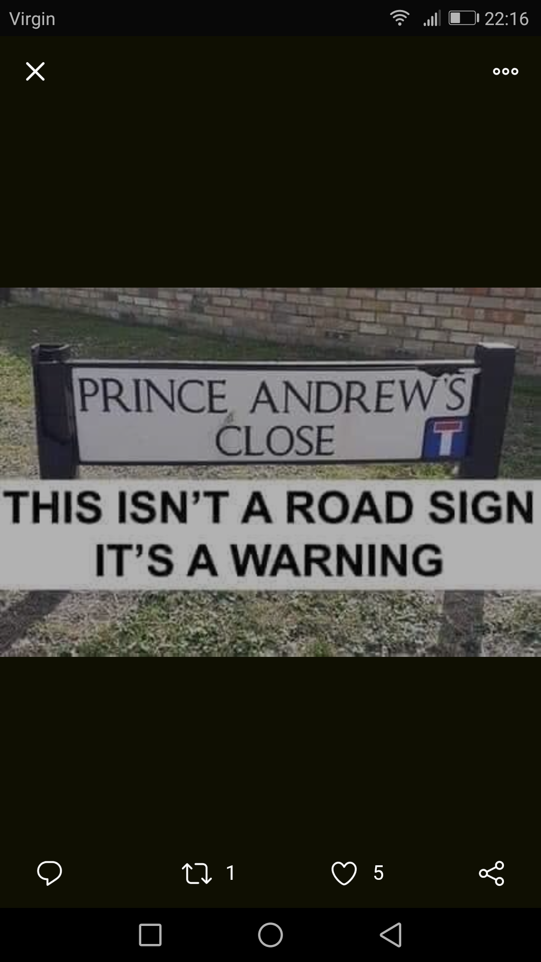 Watch out Prince Andrew's about
