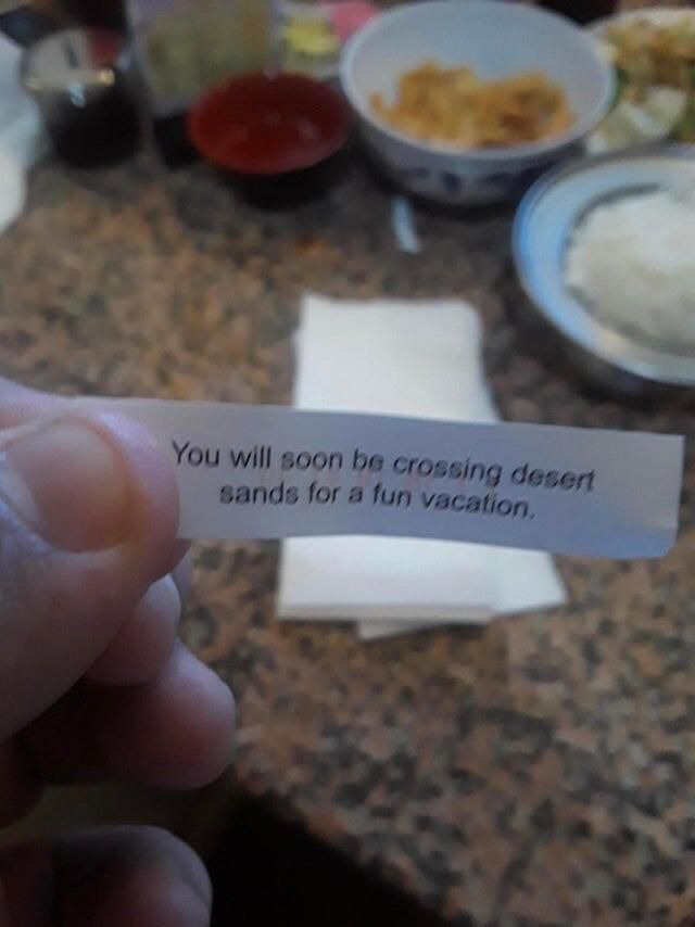 Today my friend ate a fortune cookie.