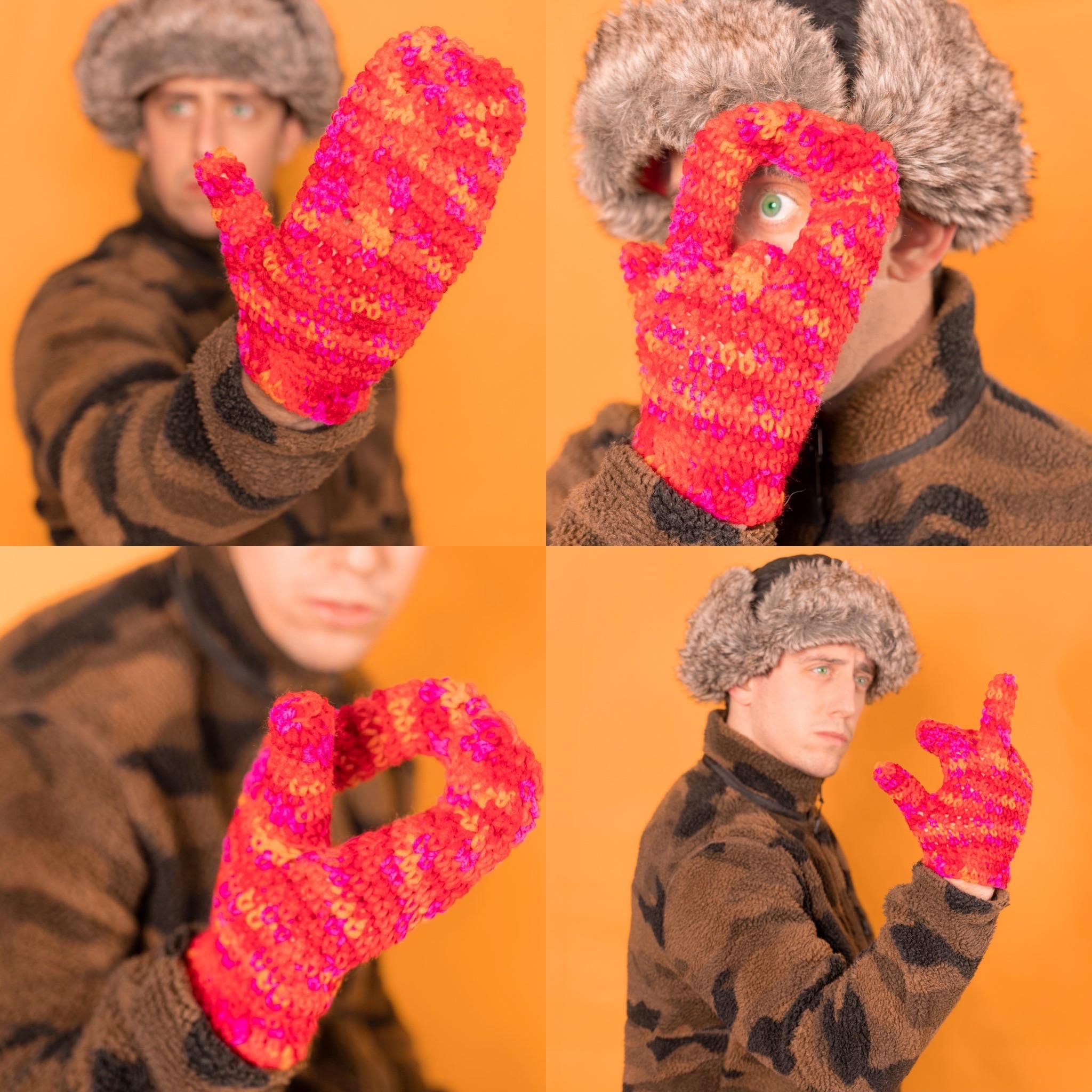 For fun I design fake product ideas, so I created a pair of mittens with a solo finger so you can still flip them off.