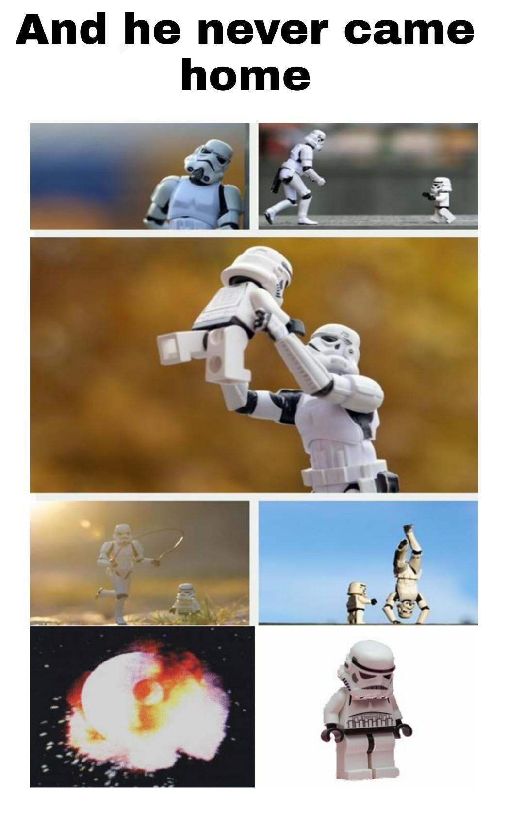 A sad baby trooper