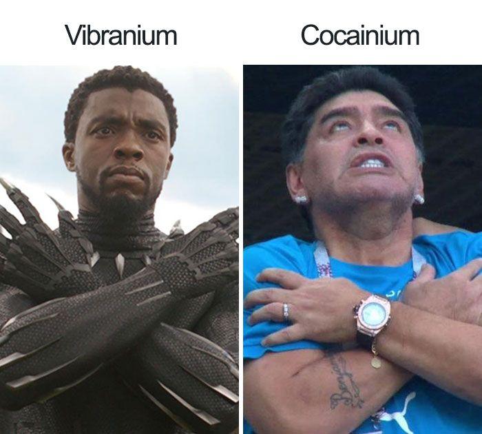 Chadwick Boseman vs Diego Maradona?