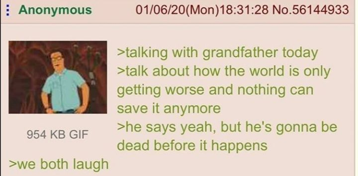 Anon and his grandpa have a chuckle