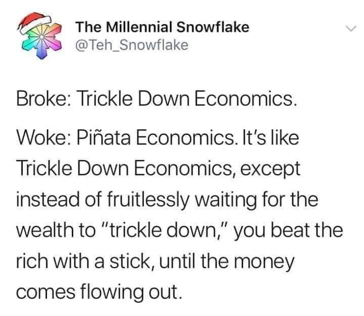 Trickle down economy or Pinata economy?