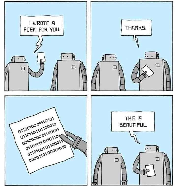 Short comic of 10 robots