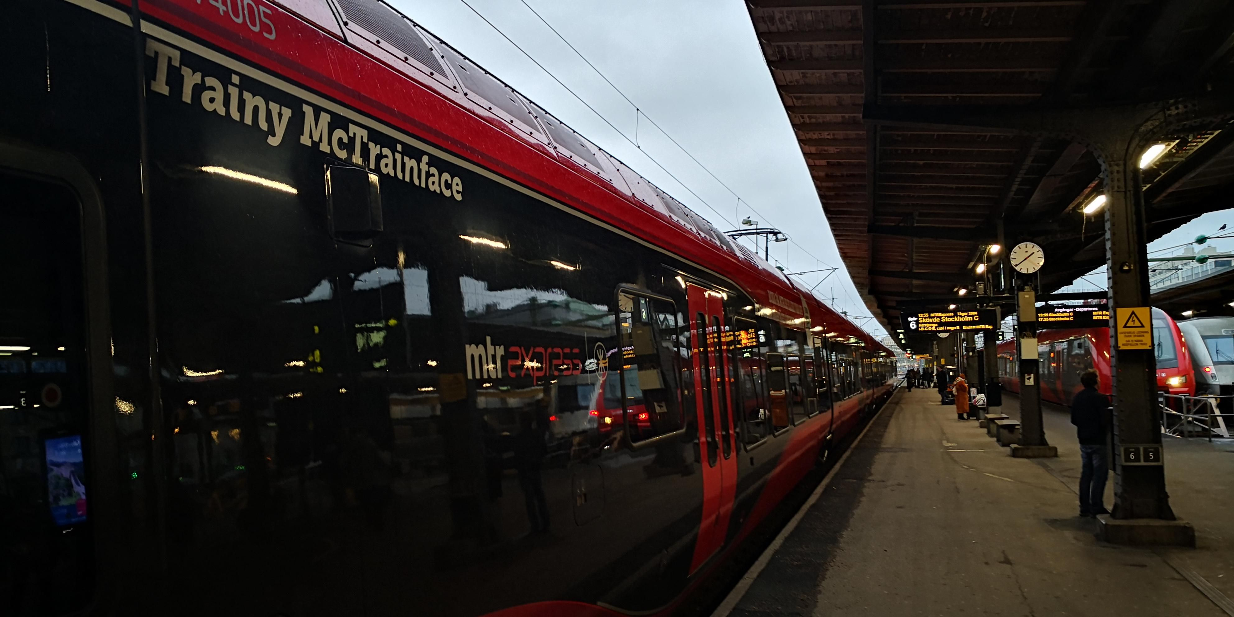 Say hello to Trainy McTrainface!