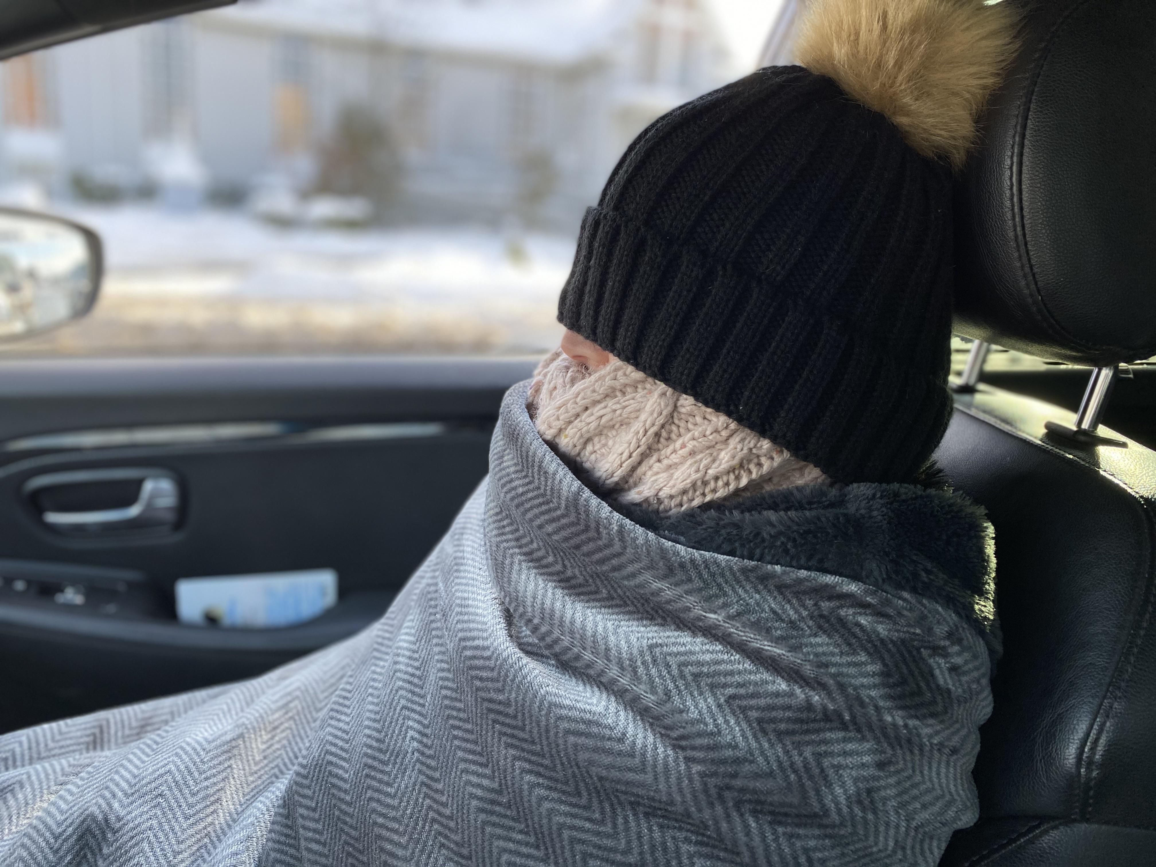 It's cold, my car window broke while open and my wife is stubborn.