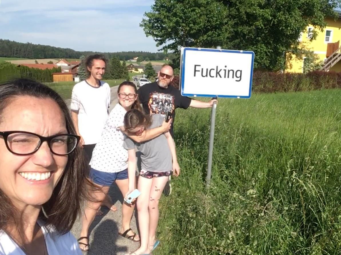While visiting Austria, we drove an hour out of our way just to get a picture in this small town.