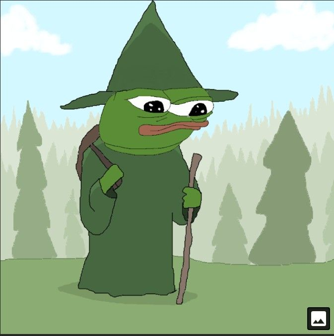 This is green wizard Pepe 1like=1 magic tendie for you
