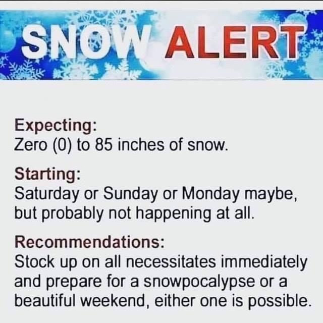 Be prepared... or don't. Either way
