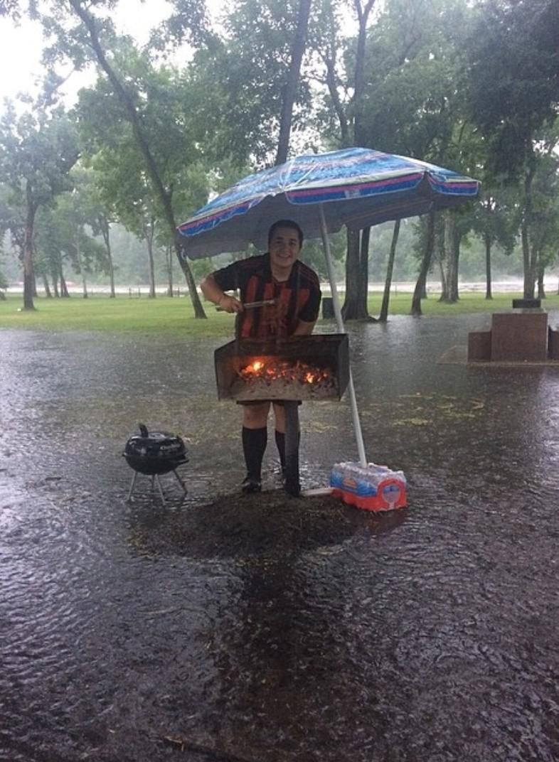 A little flood can't stop our soccer banquet