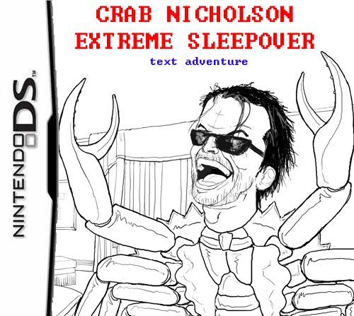 "From Today's Meme Archives: ""Crab Nicholson Extreme Sleepover"" (est. 08). Only for Tr00 l33t g3m3rs"