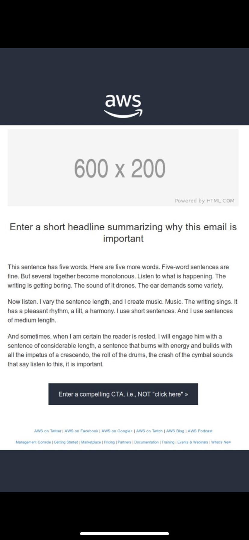 Amazon accidentally sent out their email template and it's hilarious!
