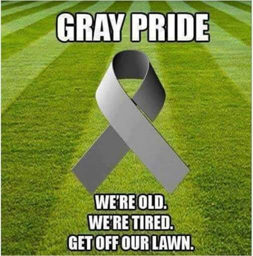Gray Pride. We're old. We're tired. Get off our lawn.