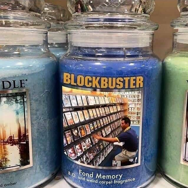 What did Blockbusters smeel like?