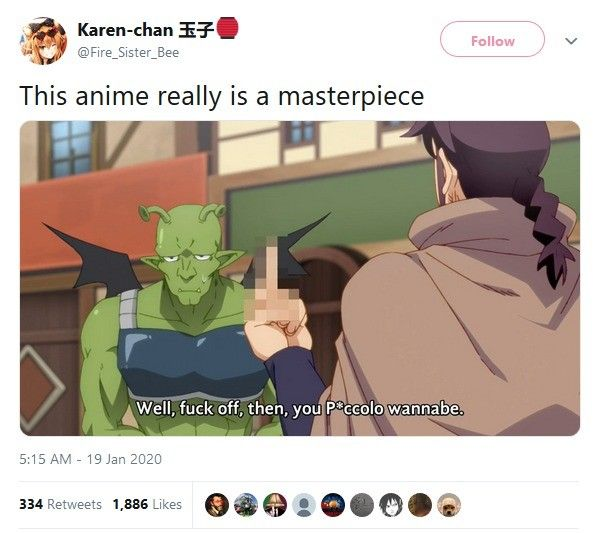 it's from the anime where the guys review monster girl brothels
