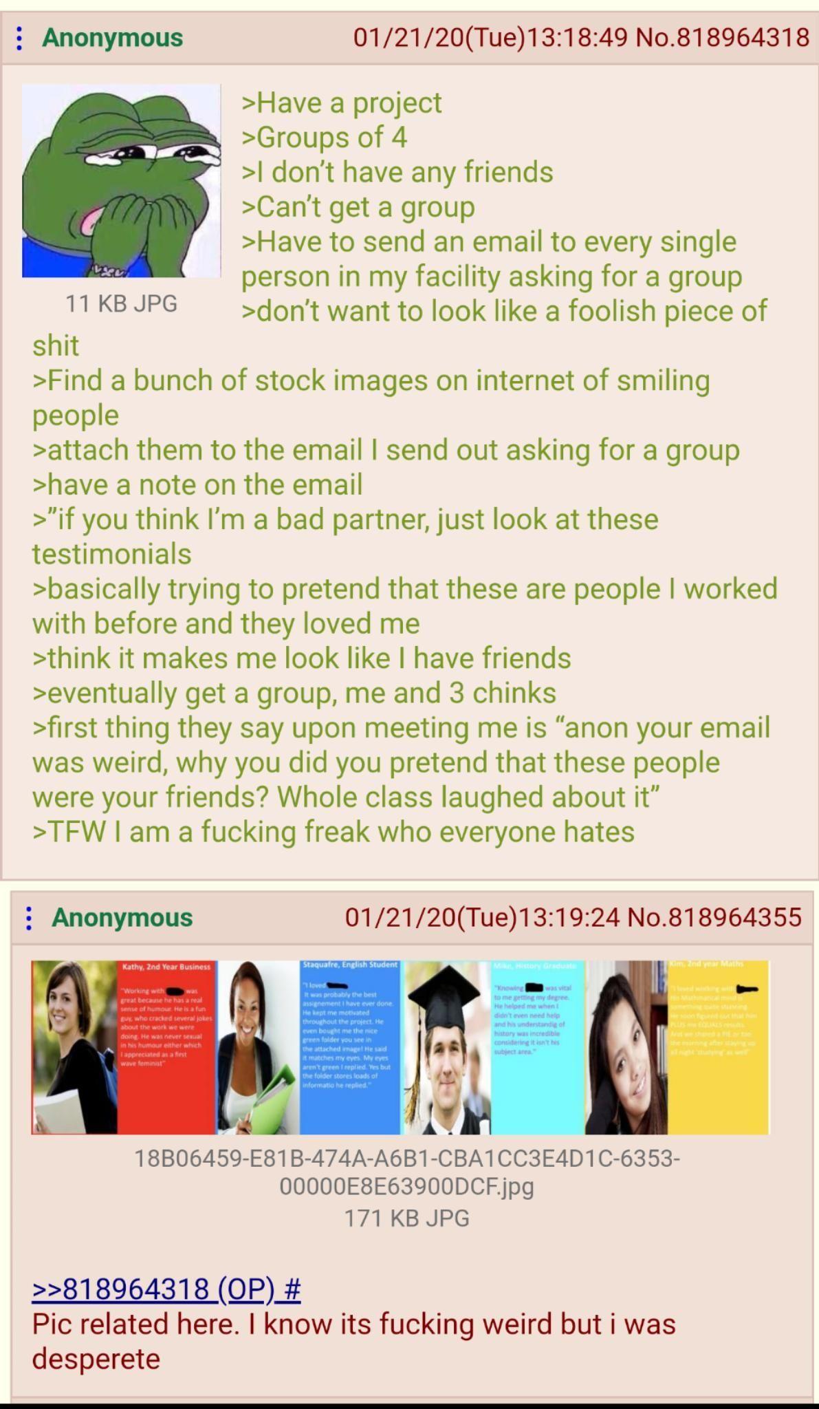 I never had a group ;-;