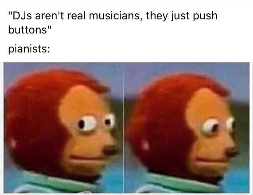 Imagine just smashing some round box and calling it music