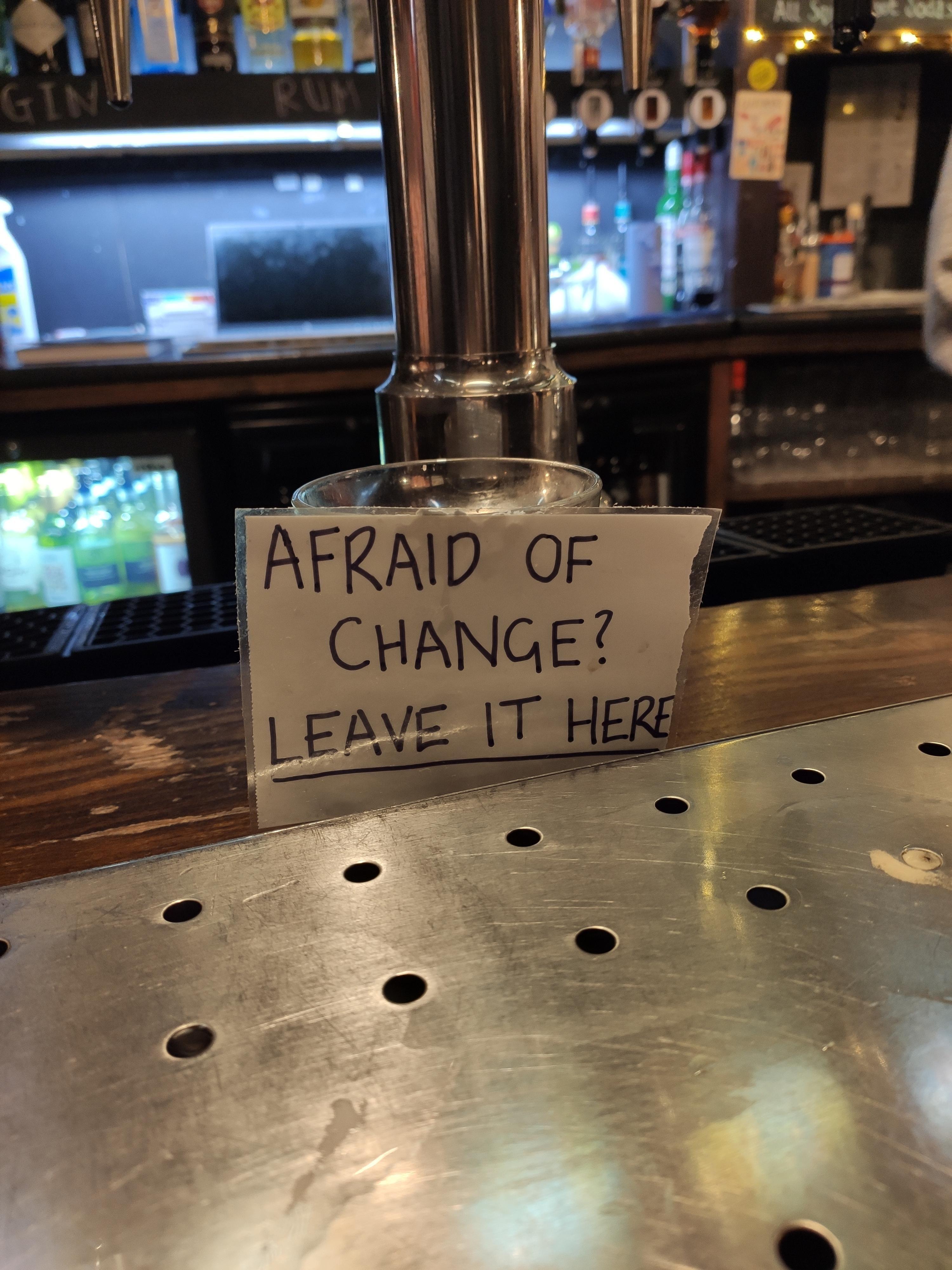 Seen in a London pub