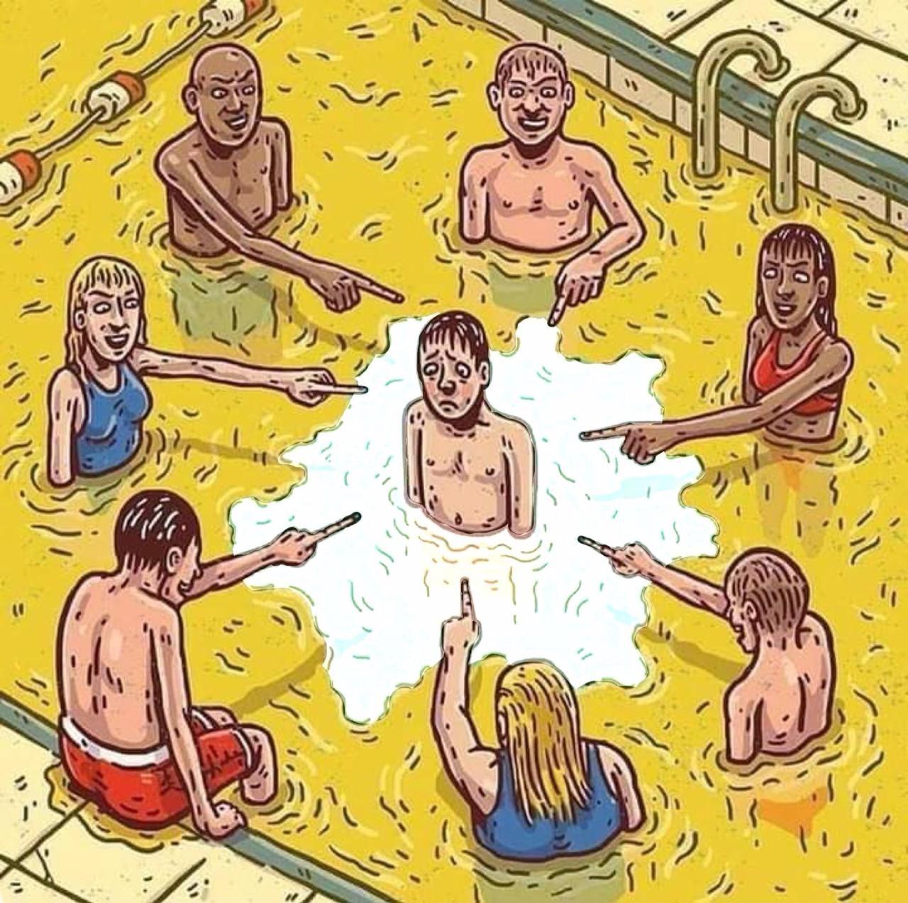 No cumming in the pee pool