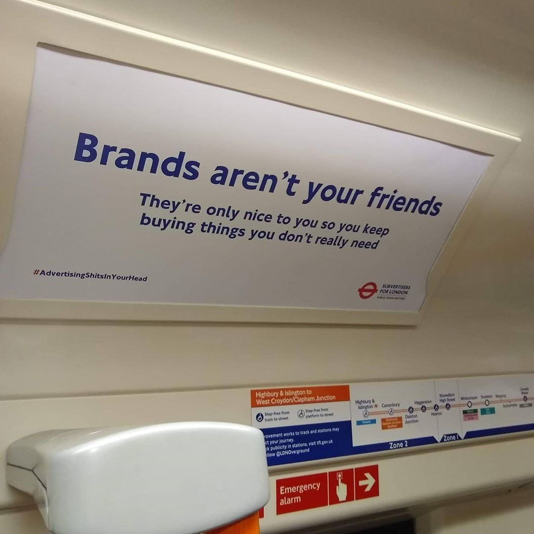Saw this unauthorised advert on the train.