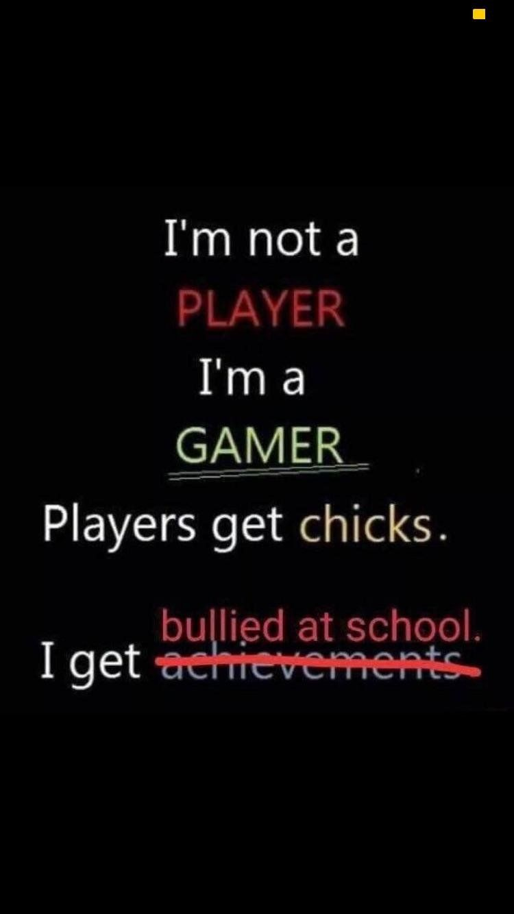 i am a GAMER and i live in a SOCIETY