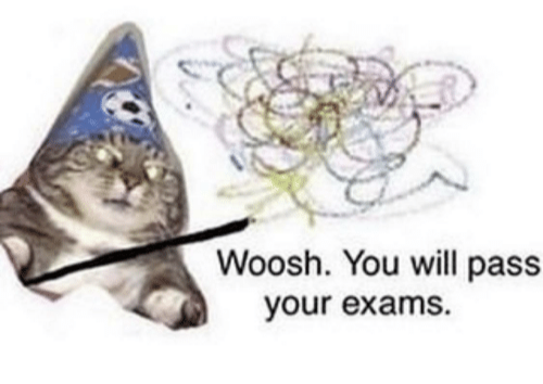 Exams are in full progress everyone, see https://hugelol.com/lol/651256 for exam questions.