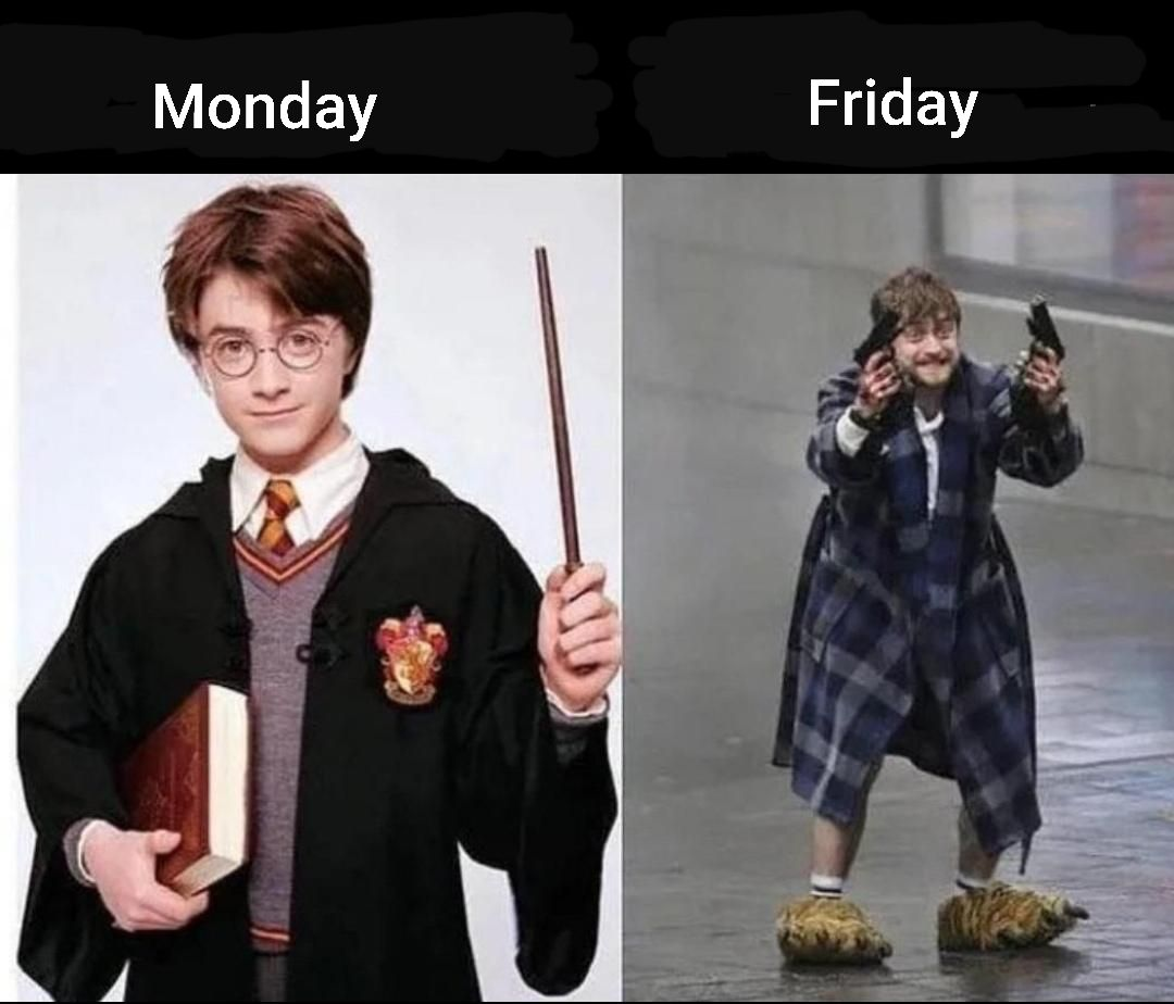 Beginning of the week vs the end of the week dealing with the public