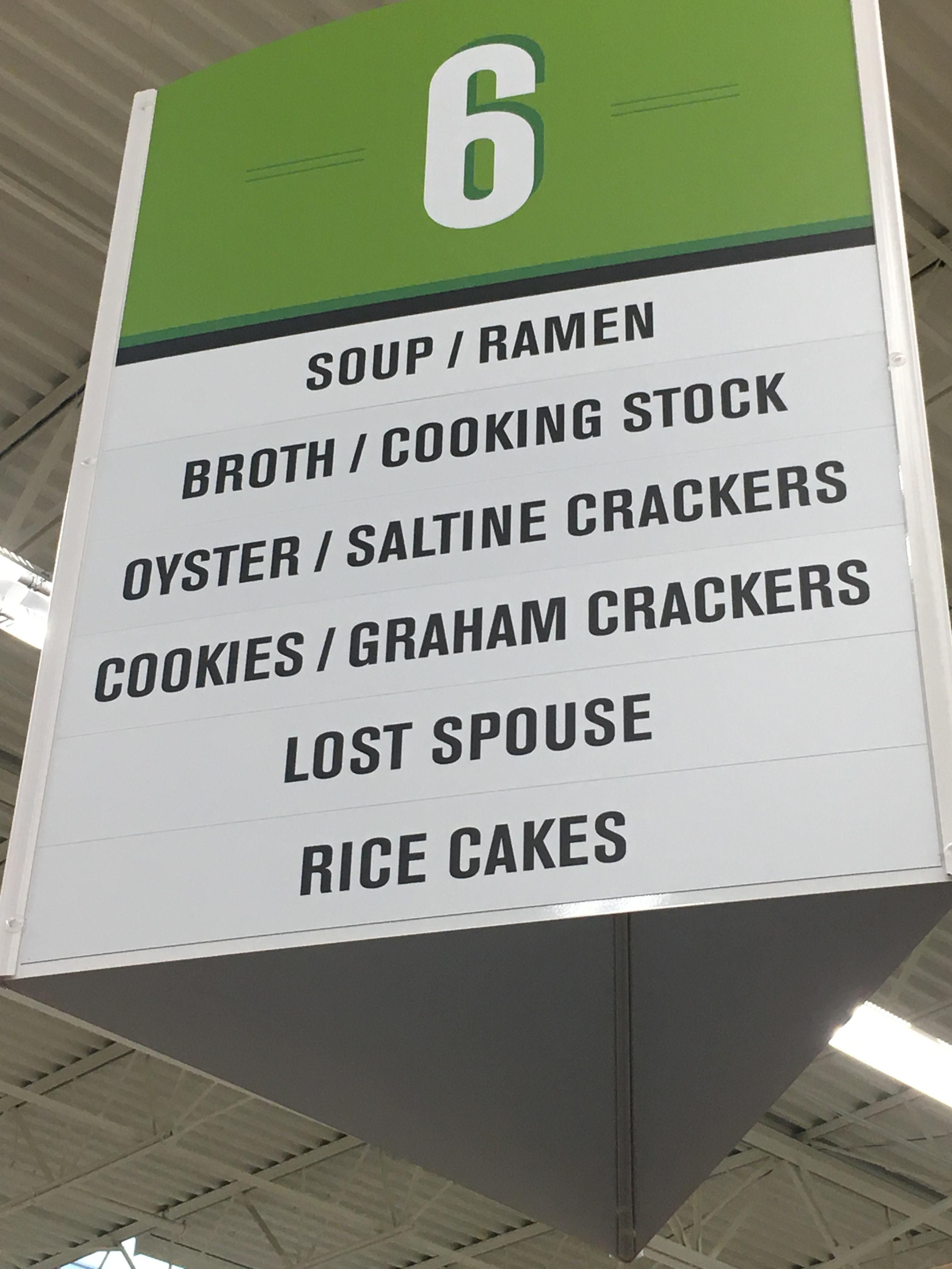 Been in this grocery store several times and just noticed the sign today.