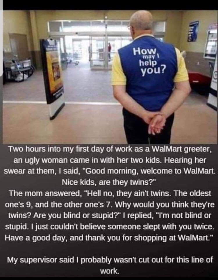 First & Last Day As A Walmart Greeter