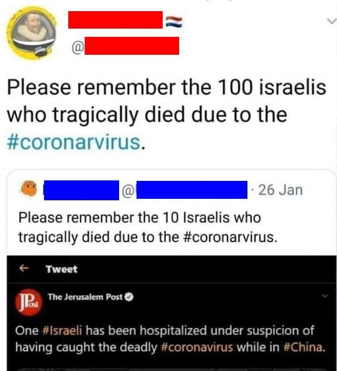 Have you heard of the 1000 Jews who died of the c-virus?