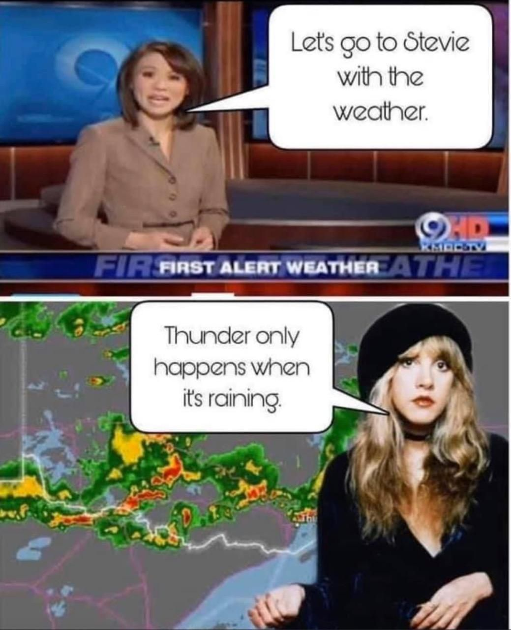 Rumor has it she's the new weather girl