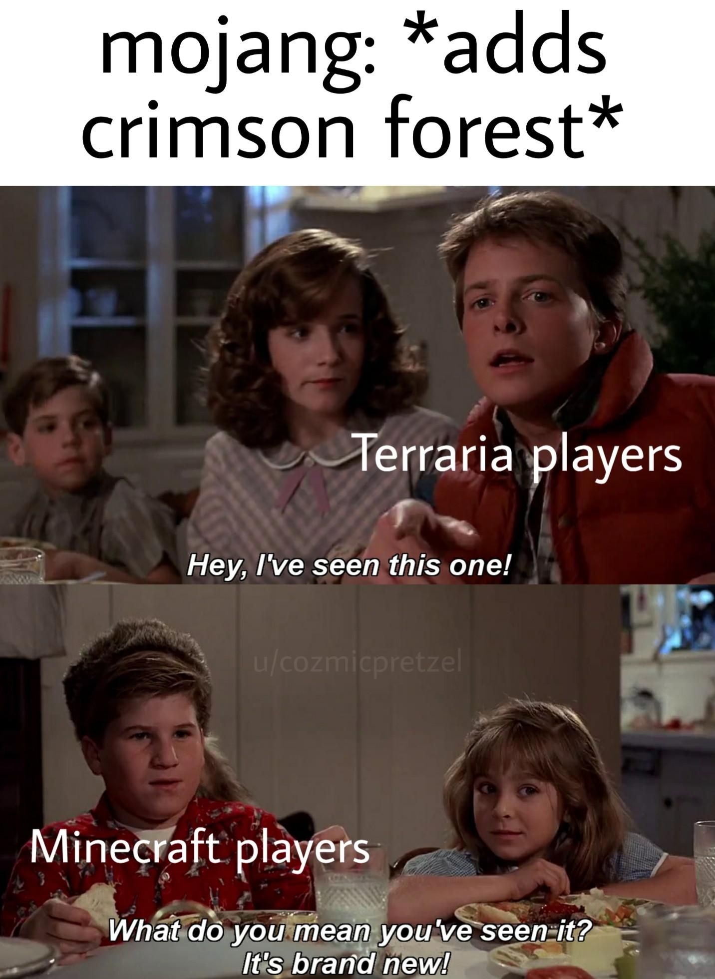 Minecraft is just 3D Terraria