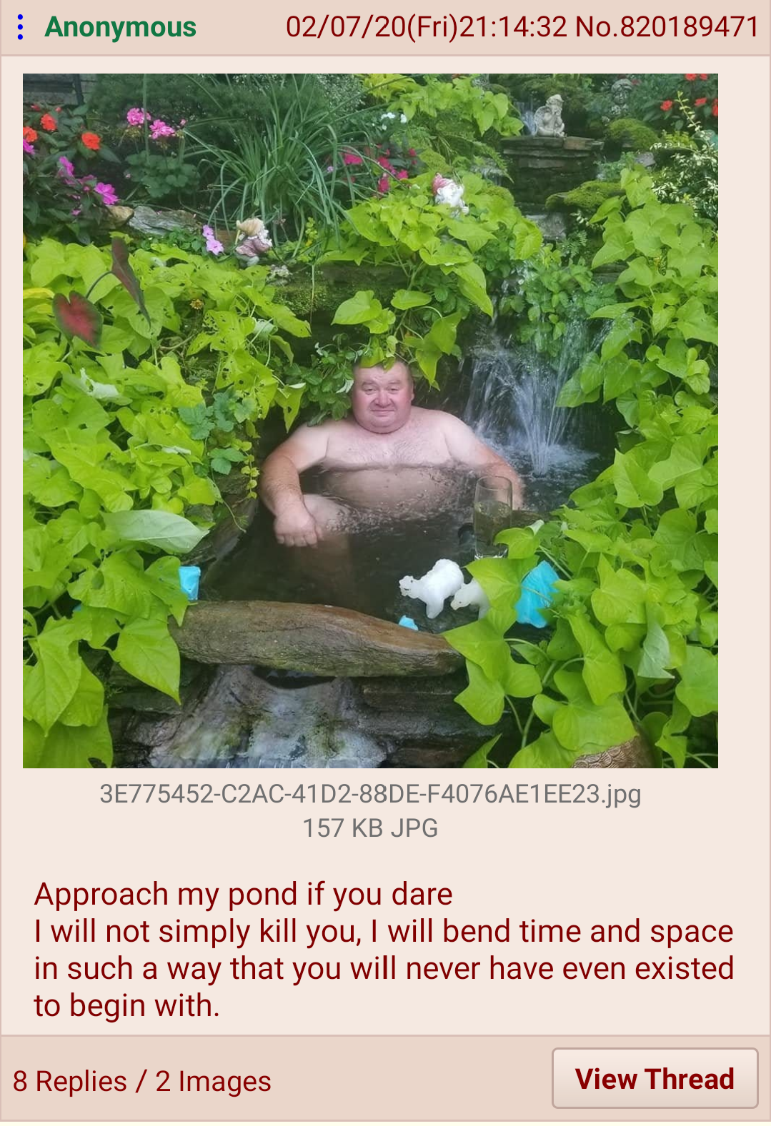 But it's such a nice pond :(