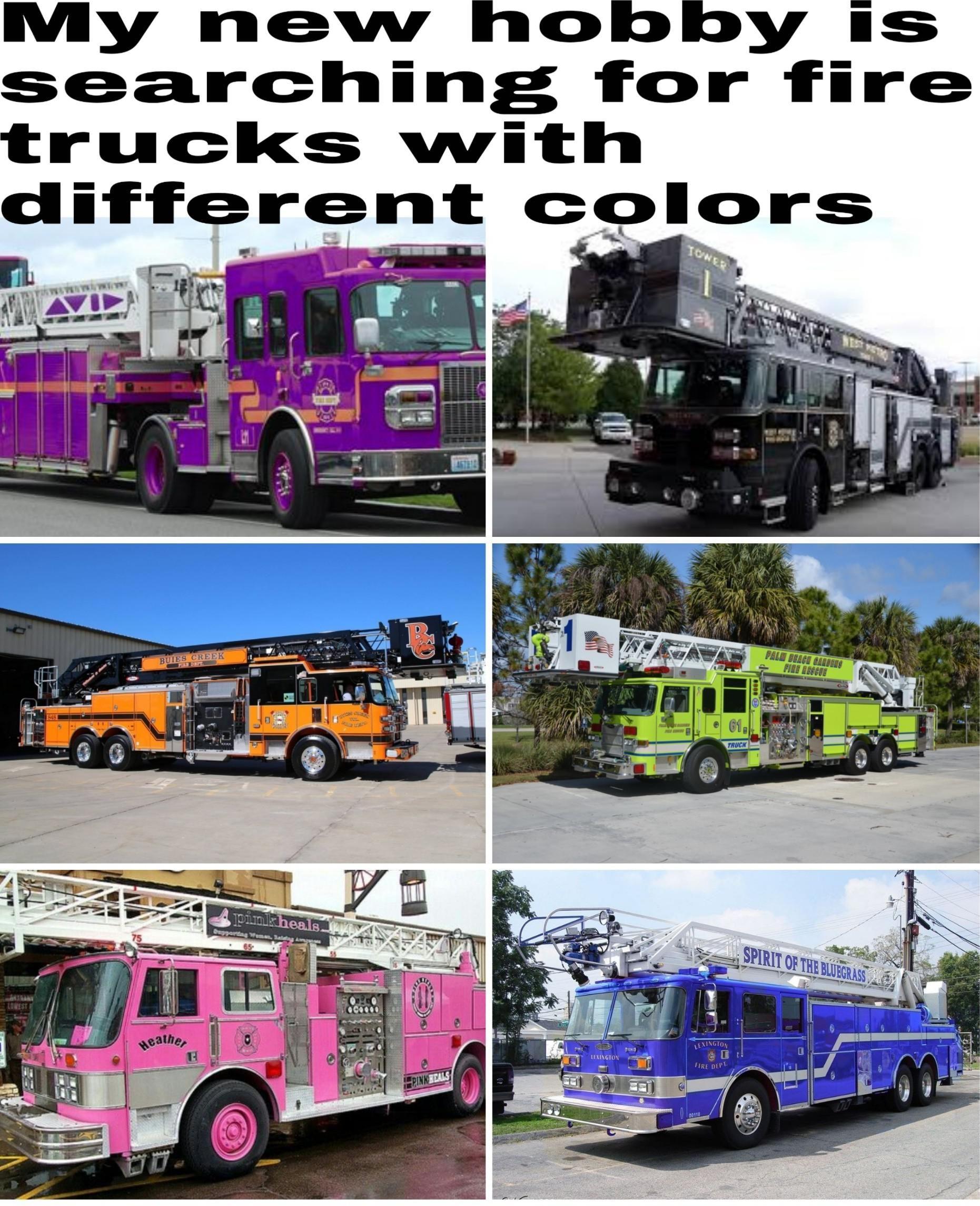 Red fire truck aren't allowed