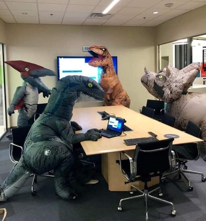 Meanwhile at the Jurassic Park office