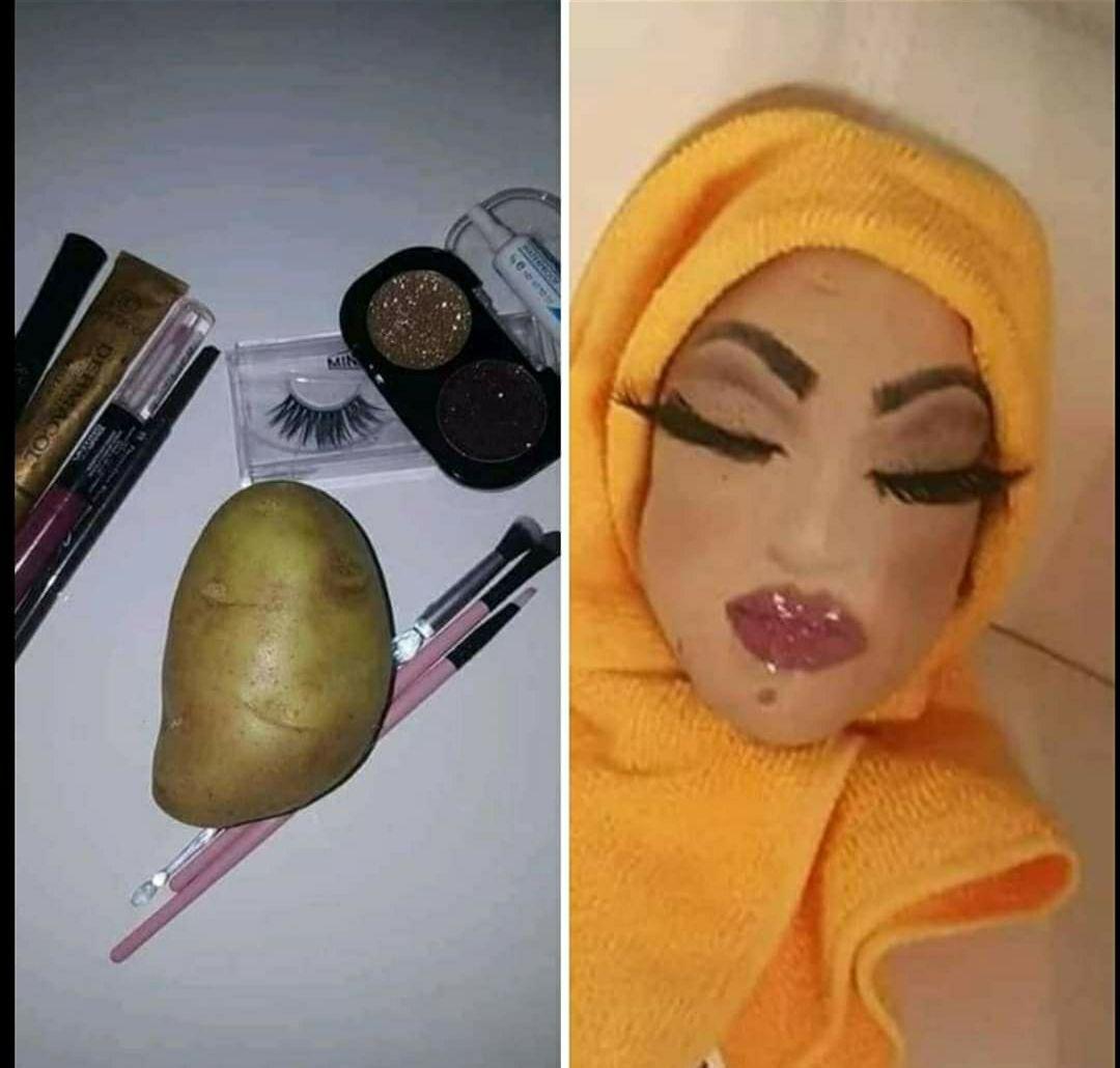 Power of makeup :)