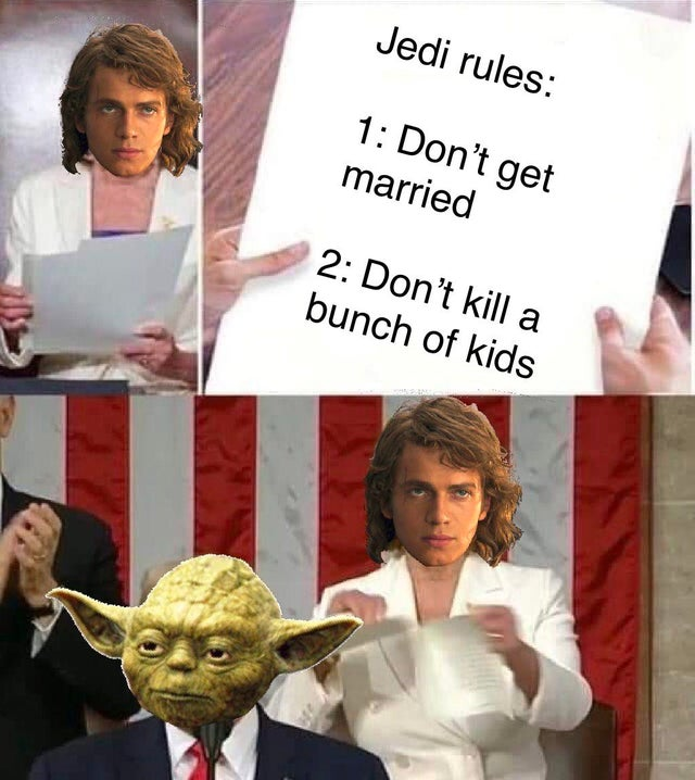 Anakin did nothing wrong