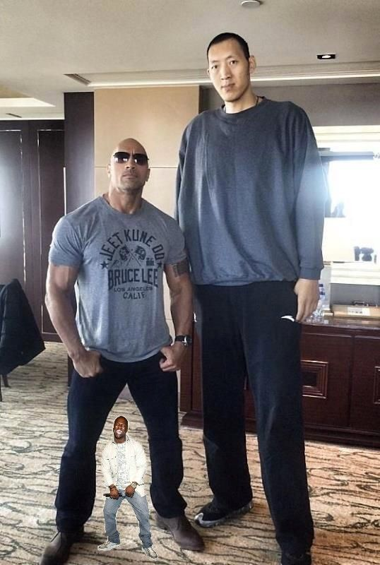Had to add Kevin Hart for scale...