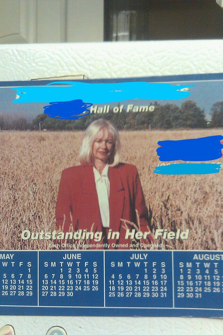 Realtor and her celebratory calendar
