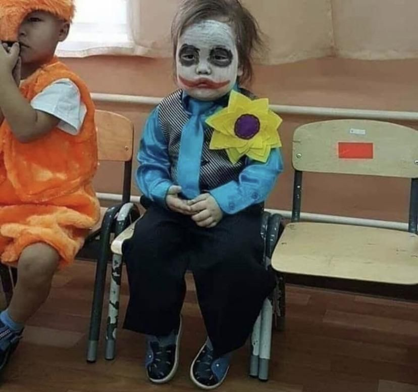 They told him to dress up as his favorite movie character and he came prepared!