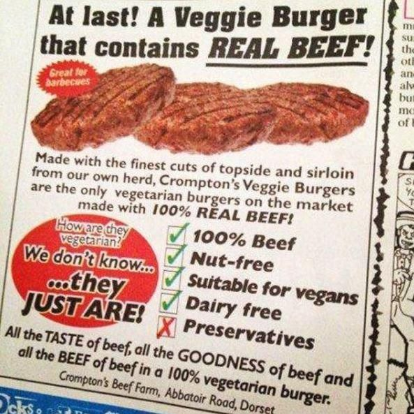 I think they're not sure what beef actually is.